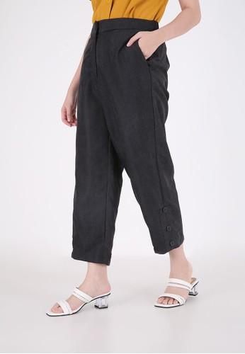 Sorabel black Pike Button Long Pants Black 40706AA5364984GS_1