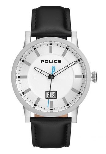 Police white and silver Jam Tangan Pria Kulit Police PL.15404JS01M Original B2EBEAC02D1A14GS_1