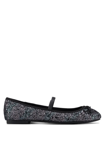 ONLY 灰色 閃亮平底鞋 66759SH73E47DCGS_1