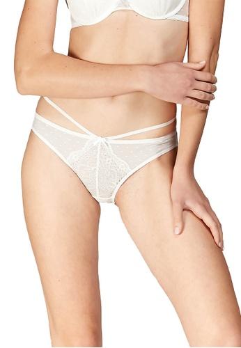 6IXTY8IGHT white CAROIE SOLID, Lace Bikini Briefs PT10070 F4159US7892629GS_1