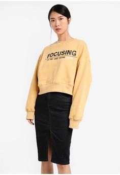 Focusing Text Sweatshirt