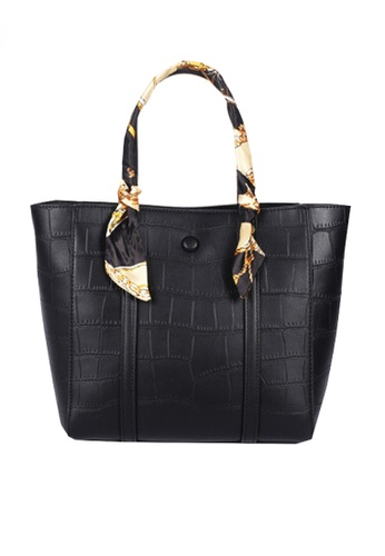 Twenty Eight Shoes black VANSA Fashion Crocodile Leather Tote Bag VBW-Tb2881 B7A78AC2921618GS_1