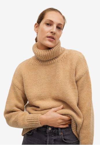 Mango beige Turtle Neck Sweater 4A05AAA733E9B2GS_1