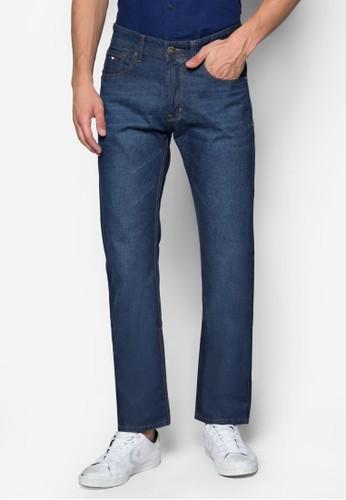 Mesprit hk505 水洗直筒牛仔褲, 服飾, 服飾