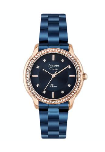 Alexandre Christie blue Alexandre Christie Jam Tangan Wanita - Blue Rosegold  - Stainless Steel - 2661 176e5b7255