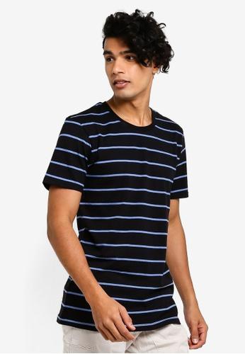 Cotton On 黑色 對比滿版條紋T恤 4DEF9AAEA403F2GS_1