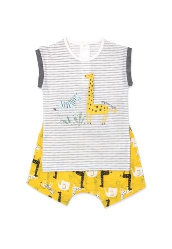 Organic mom yellow Organic Cotton Jerry Giraffe Pajamas 4D2CBKA0572EEAGS_1