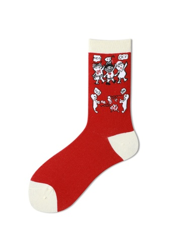 Kings Collection red Funny Pattern Cozy Socks (One Size) HS202245 CDD1CAA8FCEA04GS_1