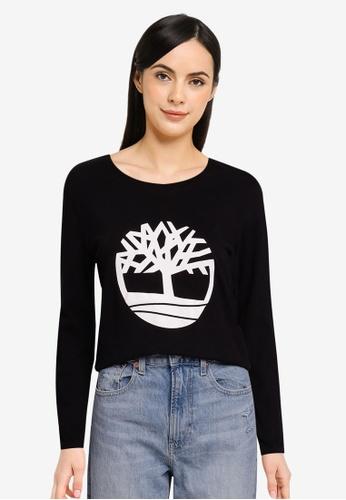 Timberland black Est. 1973 Long Sleeves Tree Logo Tee BEE8FAA8187860GS_1