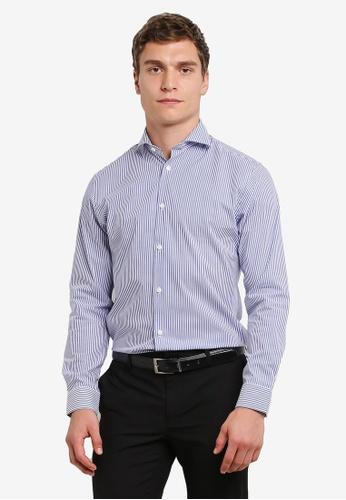 Selected Homme 藍色 Shdonesel-mon 襯衫 SE364AA0S417MY_1
