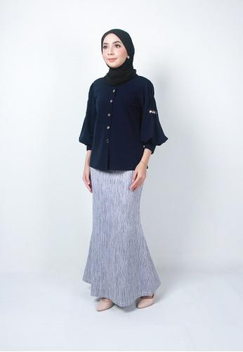 Ladies Jeans grey Muslimah Elegant Long Skirt 1D390AAD389CC9GS_1