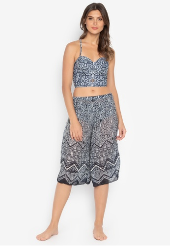 Chase Fashion blue Three Piece Printed Swimset Tie Up With Pants 52FA9US07D3DECGS_1