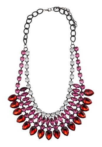 esprit outlet 台灣多色水晶飾項鍊, 飾品配件, 項鍊