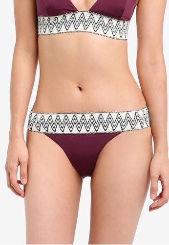 TOPSHOP red Zig Zag Trim Bikini Pants TO412US0SIVAMY_1
