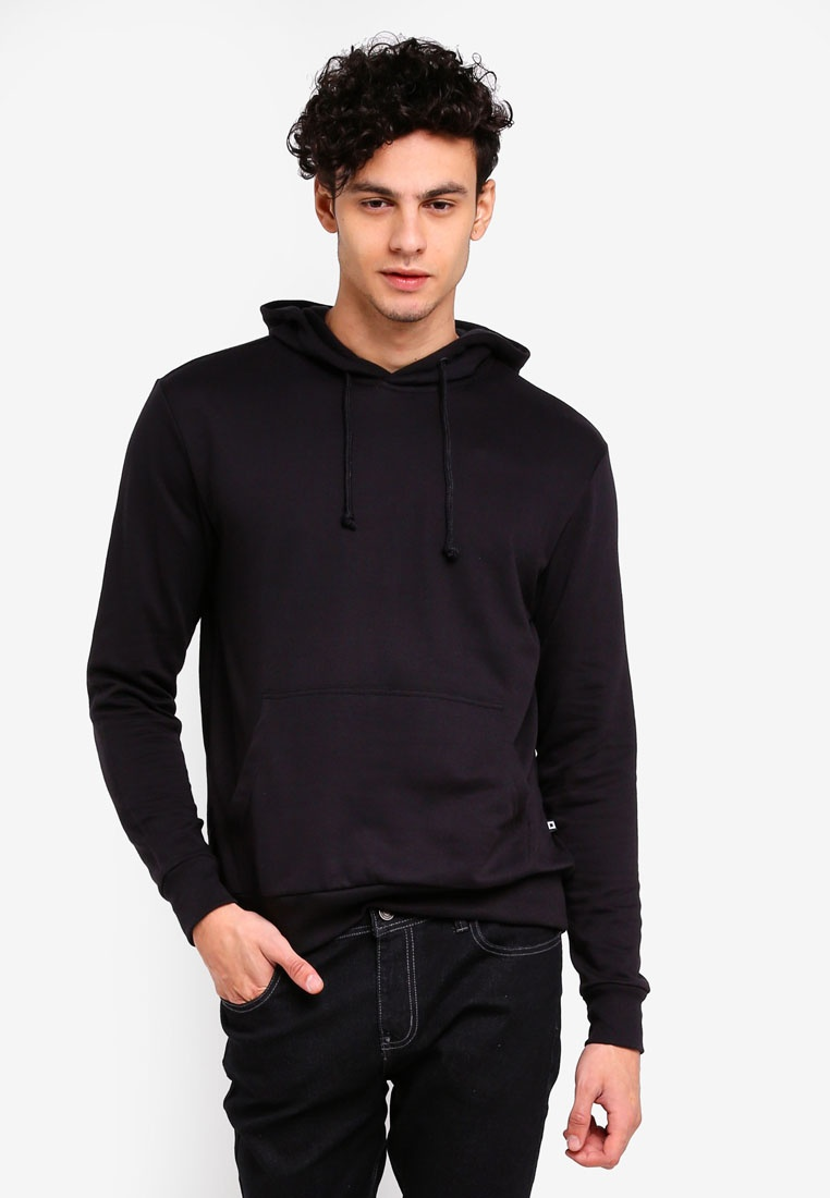 Fit Hoodie Penshoppe Black With Relaxed Pocket O5vdqwwY