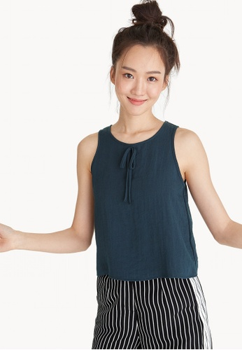 Pomelo navy Front Bow Tank Top - Navy AE012AA9278606GS_1