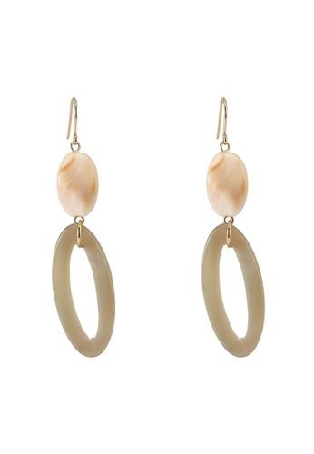 niko and ... brown Resin Earrings 560DAAC6161725GS_1