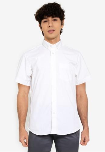 Banana Republic white Short Sleeves Tech Shirt C7AB9AA8640F9DGS_1