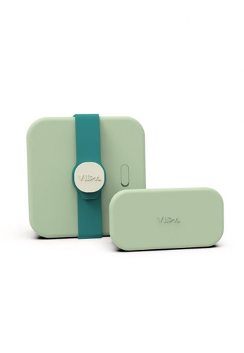 Viida [VIIDA] The Morgen Series Kassie Stainless Steel Lunch Box with Leak-proof lid, Green - LFGB Germany, FDA & SGS Certified Safe FCFF0HL06F2A0FGS_1