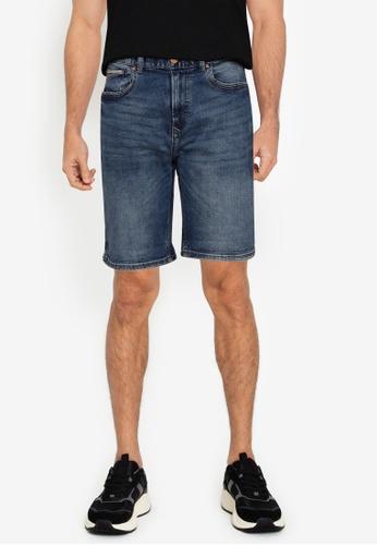Springfield blue Slim Fit Distressed Denim Shorts 96B0CAA54DB147GS_1