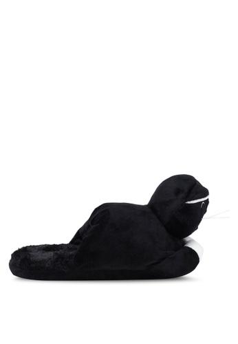 Typo 黑色 室內貓咪拖鞋 CAEC4SH9232223GS_1