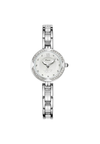 Eyki white and silver Eyki Kimio KW6000S Women's Rhinestones Stainless Steel Watch (Silver White) EY078AC52RPFMY_1
