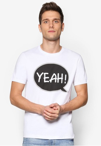 文字設計短袖TEesprit暢貨中心E, 服飾, 服飾