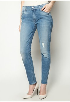 The Ankle Skinny with Hole Jeans