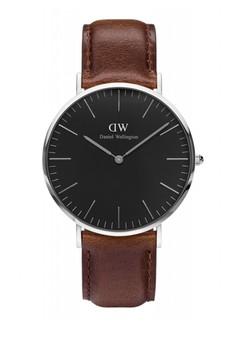 Daniel Wellington brown Classic Black Bristol Watch 40mm DA965AC0UKRRID_1