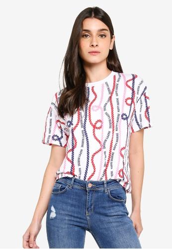 LC Waikiki 米褐色 Short-袖 Patterned T-襯衫 2FB37AAA168498GS_1