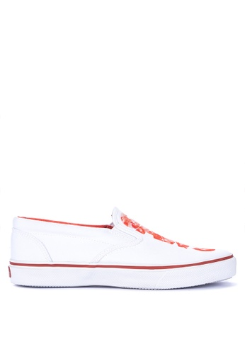 Sperry white Striper Logo Jaws Slip-On Sneakers 6A5DASHF19AAD2GS_1