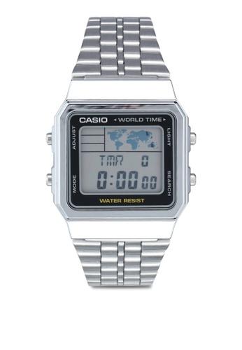 Casio silver Casio A500WA-1DF Watch CD1A7AC97B621DGS_1