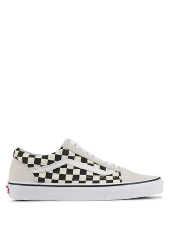 VANS black and white Old Skool Checkerboard Sneakers VA142SH0SWPVMY_1