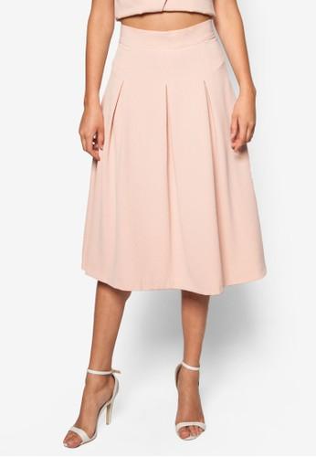 抓褶zalora時尚購物網的koumi koumi及膝裙, 服飾, 裙子