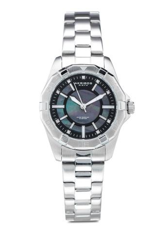 Akribos XXIV 銀色 水晶鏈帶手錶 4913BACCAB3B04GS_1