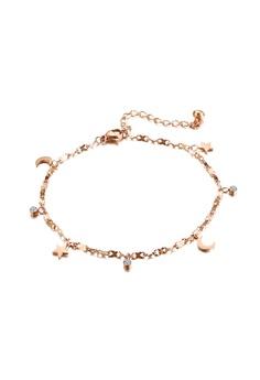 b14d10057f6 CELOVIS gold Moon and Star 18K Rose Gold Bracelet 3C411ACB9201FFGS_1