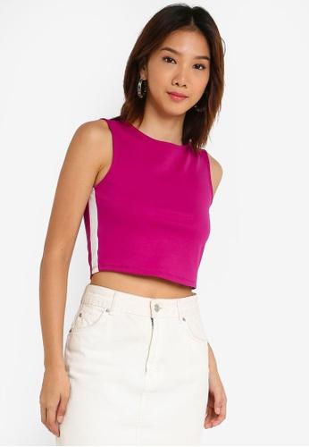 Something Borrowed 粉紅色 短版上衣 DA289AAD46202CGS_1