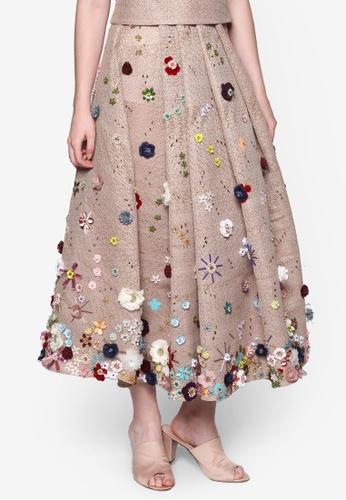 Rico Rinaldi brown Rico Rinaldi X Tomita Flower Princess Skirt RI041AA45FHAMY_1