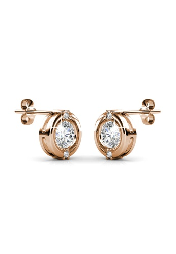 Her Jewellery gold Classic Earrings (Rose Gold) - Made with Premium grade crystals from Austria HE581AC0RVR8MY_1