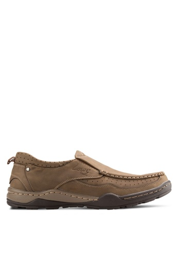 Louis Cuppers brown Stitch Detail Loafers LO977SH22AXLMY_1