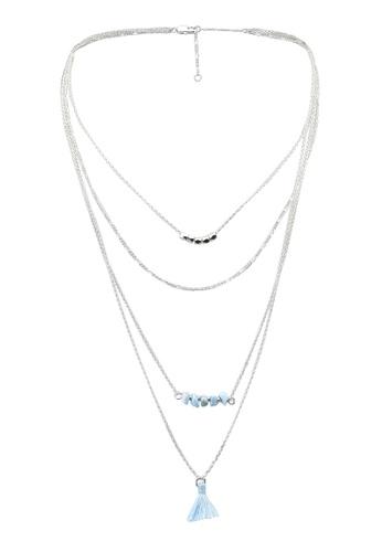 Pieces silver Melia Combi Necklace C11C4AC7110815GS_1