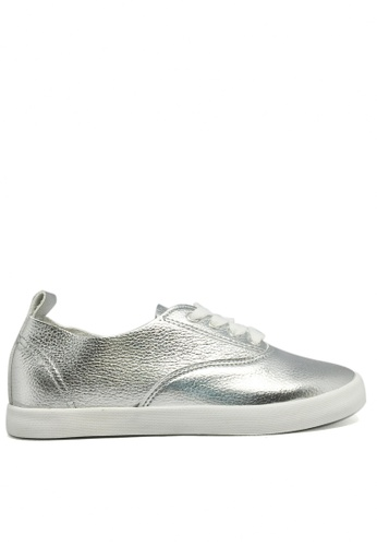 Twenty Eight Shoes silver Soft Synthetic leather flat 6961 TW446SH46WIRHK_1