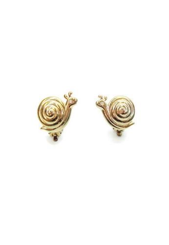 1901 Jewelry gold 1901  Jewelry Snailes  Clip Earrings 19910AC29VDUID_1
