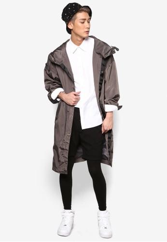 長尖沙咀 esprit版連帽尼龍外套, 服飾, 休閒外套及風衣