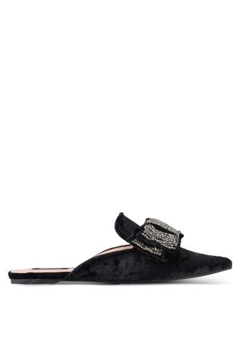 ZALORA black Bejewelled Bow Sliders 9D401SHCC92E69GS_1