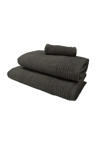 HOOGA black Hooga Bath Towel Chloe (Bundle of 2) 67449HLF4C6FB2GS_1