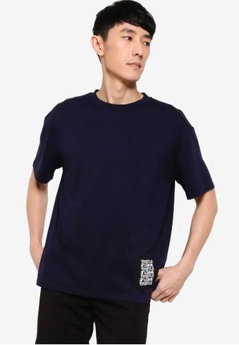 ZALORA BASICS navy Whistle Patch T-Shirt EB832AACFC3155GS_1