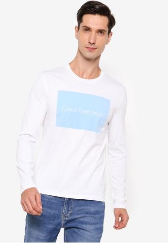 Calvin Klein white Fashion Logo T-Shirt - Calvin Klein Jeans 79076AA167A33DGS_1