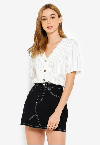 Pieces Claire Short Sleeve Top