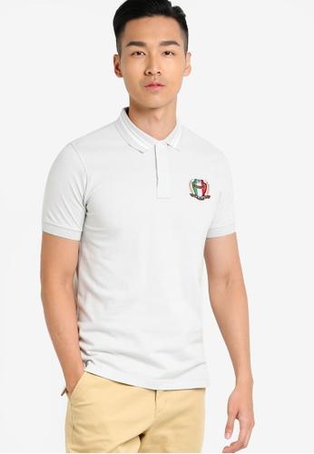 MILANO grey Short Sleeve Polo Shirt MI248AA91LGUMY_1